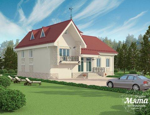 Дизайн фасада коттеджа 195 м2 в Москве